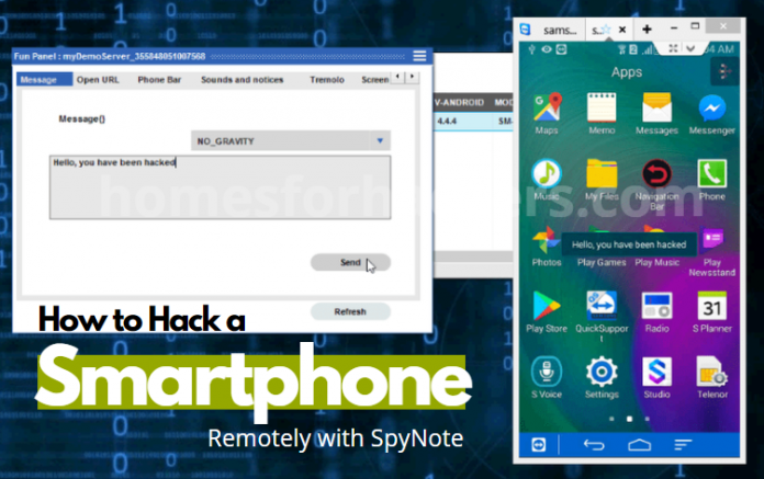 How to Hack Android Phone Remotely with SpyNote - Spynote Tutorial - Android RAT Hacking - How to Hack a Smartphone